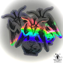 Load image into Gallery viewer, Baphomet Holographic Sticker