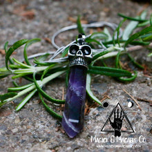 Load image into Gallery viewer, Amethyst Skull Necklace