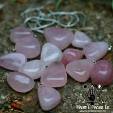Load image into Gallery viewer, Tumbled Rose Quartz Crystal Necklace: Love & Emotional Support