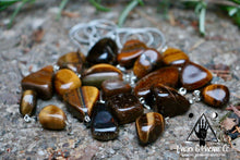 Load image into Gallery viewer, Tumbled Tiger's Eye Necklace: Courage & Protection