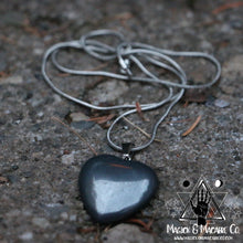 Load image into Gallery viewer, Hematite Heart Necklace