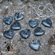 Load image into Gallery viewer, Larvikite Heart Necklace