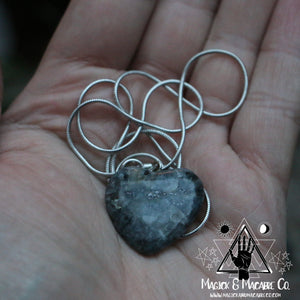 Larvikite Heart Necklace