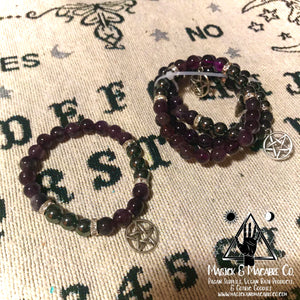 Amethyst & Hematite Bracelet (Your Choice of Charm)