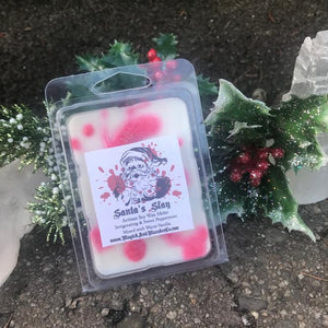 Santa's Slay Wax Melts: Peppermint Twist, White Chocolate, & Vanilla