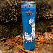 Load image into Gallery viewer, Thor Novena Spell Candle: Weather Magick & Protection