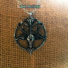 Load image into Gallery viewer, Baphomet Charm Necklace