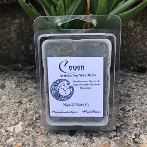 Coven Wax Melts: Frankincense, Myrrh, Sage, & Rosemary