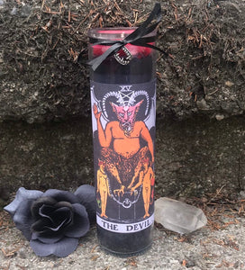 Devil Tarot Novena Spell Candle: Domination & Sexual Energy
