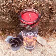 Load image into Gallery viewer, Devil Tarot Novena Spell Candle: Domination & Sexual Energy