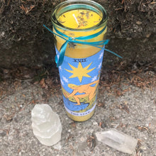 Load image into Gallery viewer, Star Tarot Novena Spell Candle: Creativity & Inspiration