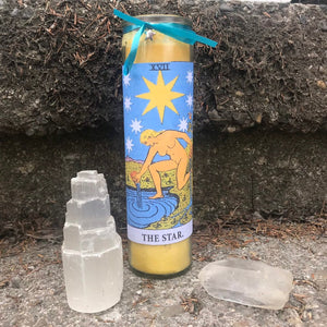 Star Tarot Novena Spell Candle: Creativity & Inspiration