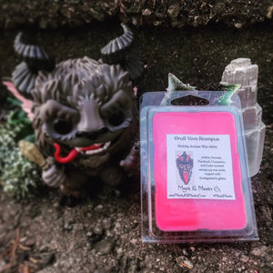 Krampus Wax Melts: Amber, Incense & Fire