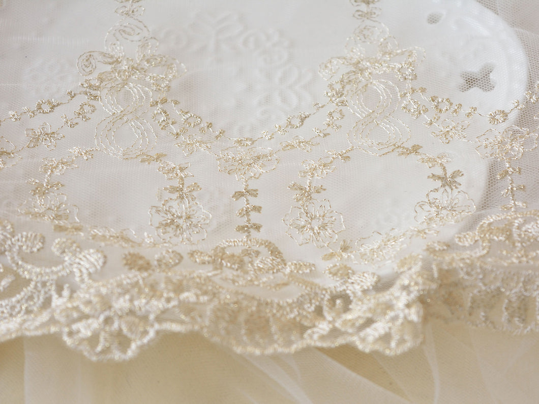 6.1 ''Bridal Lace Trim by the yard Embroidery Lace Ribbon Vintage Flower Lace Edge for Dress Veilling Craft Making