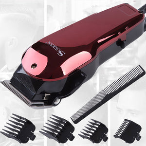 Home Pro Wired Hair Clipper Head Carving Shaver Head Salon Wine Red