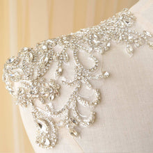 Load image into Gallery viewer, Mirror Pair Rhinestone Shoulder Applique Bridal Dress Shoulder Embellishment Crystal Patch