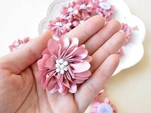 Delicate 3D Beaded Flower Applique Decorative Addition for Craft Projects,Party Costumes 10 pcs