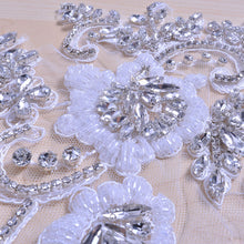Load image into Gallery viewer, Bling Rhinestone Applique Crystal Beaded Patch for Prom Dress Evening Costumes
