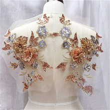 Load image into Gallery viewer, Delicate Blossom Applique Beaded Sequined Flower Lace Applique Patch for Prom Dress Costumes