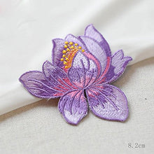 Load image into Gallery viewer, Enchanting Iron on Flower Patch Embroidery Applique  Embellishment for Garment Dress Dance Costume Pack of 3