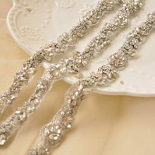 Load image into Gallery viewer, Sparkle Rhinestone Belt Crystal Belt Sewing Trim for DIY Craft Projects