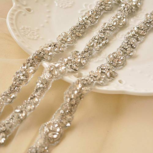 Sparkle Rhinestone Belt Crystal Belt Sewing Trim for DIY Craft Projects