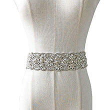 Load image into Gallery viewer, Rhinestone Appliques Wedding Bridal sash Belt Crystal Patch Trim
