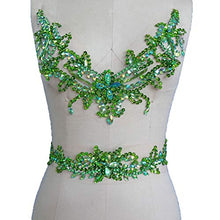 Load image into Gallery viewer, Rhinestone Neckline with Belt Beaded Dress Addition Belly Dance Costumes Appliques DIY Embellishment