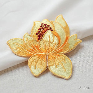 Enchanting Iron on Flower Patch Embroidery Applique  Embellishment for Garment Dress Dance Costume Pack of 3