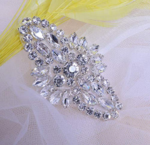 Rhinestone Garter Iron on Crystal Applique Bling Accessories for Dress Costumes 2 pcs