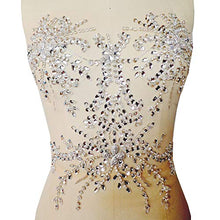 Load image into Gallery viewer, AB Stones Applique Rhinestone Applique Patch Shimmery Accents for Evening Prom Costumes