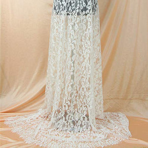 3 Meters Chantilly Lace Tulle French Lace Mesh Fabric for Prom Robes Dress Train 59 inches Width