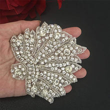 Load image into Gallery viewer, Iron on Crystal Beaded Applique Diamante Belt Patches Bridal Accessories