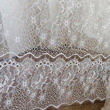 Load image into Gallery viewer, Off-White Eyelash Lace Fabric Hollowed Lace Floral Lace Mesh Fabric by Yard for Dress Gown Costume Craft Making 59 inches Width