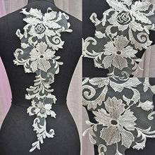 Load image into Gallery viewer, Delicate Blossom Lace Applique Wedding Lace Motif Enmroidery Dress Lace Patch Trims Addition for Bridal Dress Prom Dresses 1 Piece