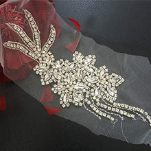 Load image into Gallery viewer, Clear Rhinestone Crystal Applique Jewel Addition for Bridal Headband Garter