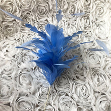 Load image into Gallery viewer, Handmade Goose Feather Twisted Feather Mount Millinery Hat Fascinators