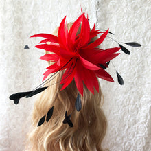 Load image into Gallery viewer, Handmade Feather Flower Twisted Mount Feathers Trim Derby Kentucky Fascinator Hat Accessories