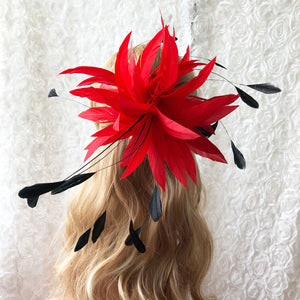 Handmade Feather Flower Twisted Mount Feathers Trim Derby Kentucky Fascinator Hat Accessories