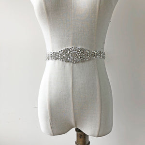 Hox Fixed Clear Rhinestones Appliques Belt Crystal Pearl Trimming Sparkling Accent