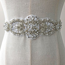 Load image into Gallery viewer, Dazzling Rhinestone Applique Trims Diamante Beaded Appliques Hox Fixed Crystal Accents