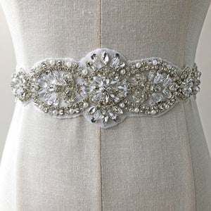 Dazzling Rhinestone Applique Trims Diamante Beaded Appliques Hox Fixed Crystal Accents