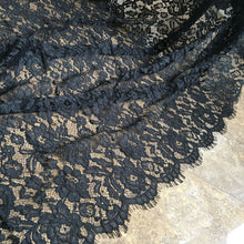 Load image into Gallery viewer, 3 Meters Alencon Lace Fabric  Eyelash Lace Fabric Soft Corded Flower Mesh Fabric for Lingerie Shorts 40 inches Width