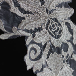 Delicate Blossom Lace Applique Wedding Lace Motif Enmroidery Dress Lace Patch Trims Addition for Bridal Dress Prom Dresses 1 Piece