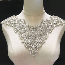 Load image into Gallery viewer, Rhinestone Neckline Applique Off-Shoulder Crystal Trim for Prom Party Dress