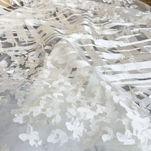 Load image into Gallery viewer, Off-White Wedding Lace Tulle Embroidery Lace Mesh Fabric  Floral Lace Mesh 51 inches Width Sold by 1 yard