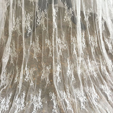 Load image into Gallery viewer, Vintage Floral Stretch Lace Mesh Fabric Embroidery lace Gauze 51 inches Wide for Wedding Dress, Veil, Costume, Craft Making