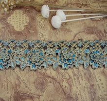 Load image into Gallery viewer, Antique  Lace Trim by the yard Gold Corded Embroidery Lace Ribbon Sewing lace Edging Fringe for Craft Project