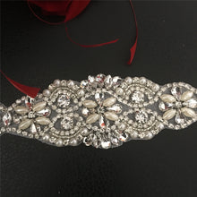 Load image into Gallery viewer, Rhinestone Sashes Applique Hot Fixed Rhinestone  Trims Addition for Bridal Belt