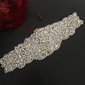 Rhinestone Applique Bridal Accessories Heavily Crystal Trim Bling Addition